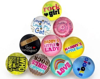 Cute 18mm Snaps for Kids and Big Kids alike - Fits all 18mm Snap Jewelry