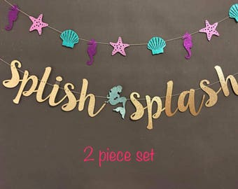 Mermaid Party Banner,  Custom Banner,Mermaid Banner, Birthday Party Banners, Mermaid Photo Prop