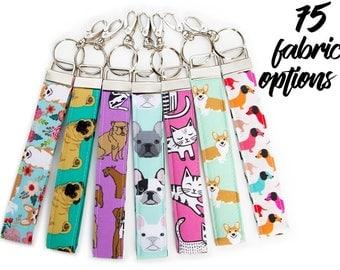 Wristlet Keyfob - French Bulldog Gifts - Key Chain - Cat Keychain - Key Ring -  Corgi Gifts - Corgi Accessories - French Bulldog Accessories