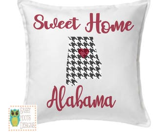 Alabama Pillow Etsy