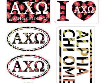 "ALPHA CHI OMEGA ""Animal"" Sticker Sheet"