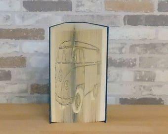Folded book-VW Bulli//Book art//Book cutting//Bookfolding//gift//decoration//Autofan