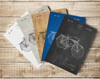 Bicycle Patent Print, Schwinn Wall Art, Antique Bicycle Art, Bicycling Wall Art, Bicycle Wall Art, Bicycle Wall Print, Art, INSTANT DOWNLOAD