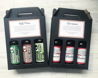 Personalised best man gift, best man beer box, handmade usher gift, wedding thank you gift, groomsmen beer box