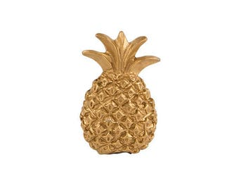 Gold, Metal Pineapple Door / Drawer / Cupboard Knob ~  Upcycling Project