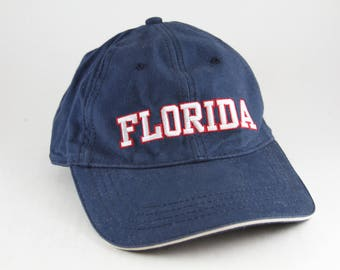 Florida State Dad Hat // Navy Blue Baseball Cap // Unstructured Floppy Cap