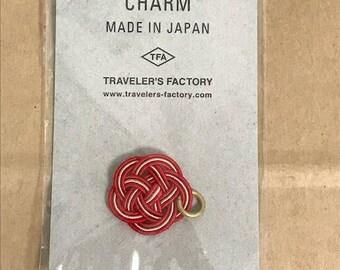 Traveler's Notebook Mizuhiki  Limited Charm 07100470 Red MADE IN JAPAN Traveler's Factory Midori Designphil