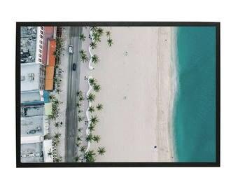 Coloured Beach Art Print, Beach, Palm Trees, Color,  Beach Art, Beach Print, Beach Photography, Printable Digital Download, Photography