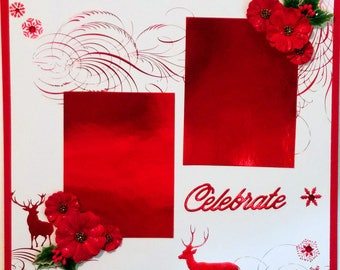 "Premade Scrapbook Page 12 x 12 ""Celebrate"""