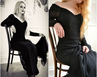 "Vintage dress ""DAHLIA"" - lace, Gothic prom dress"
