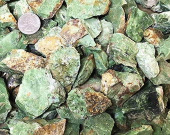 One Pound Natural Rough Chrysoprase - Crystal Tumbling, Cutting, Cabbing