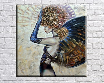 Large Wall art, Oil Painting, Art Print on Canvas, Woman Art, Woman Painting, Modern Art, Abstract Art