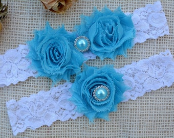 Wedding Garter Blue, Aqua Garter Set, Blue Bridal Clothing, Somethig Blue, Garter Wedding, Garter For Brides, Lace Garter Blue, Keep Garter