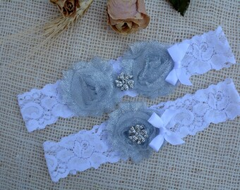 Grey Garter Glitter, Lace Garter, Wedding Garter Set, Bridal Garter, Grey Garter Lace, Toss Garter Silver, Glitter Silver, Keep Garter Grey