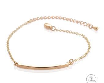"""18 K gold plated bracelet """"Bar"""""""