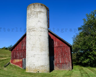 Red Country Barn Photograph, Country Decor, Rustic Country Photography, Photography, Home Decor,