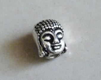 Buddha Beads, Buddha Charms, Buddha Head Spacer Beads, Antique Silver Tone Buddha Charms, Buddha Head Beads