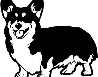 Cardigan Welsh Corgi #1 Dog Breed Canine K-9 Animal Pet Hound Puppy Logo .SVG .EPS .PNG Digital Clipart Vector Cricut Cut Cutting Download