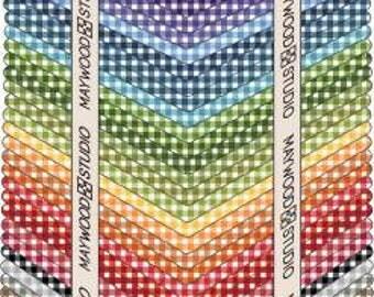 36 Fat Quarter Cotton bundle, Gingham check from Maywood studios, Beautiful Basics last one