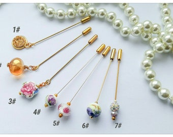 Various Style Vintage Inspired Beautiful Hijab/Hat Pins~6cm/7.5cm Long Pins~craftoholictamina