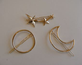 Set of 3 strips Milky gold