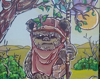 Wicked the Ewok, Original Painting