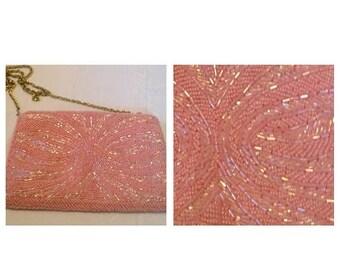 Anniversary Sale Beautiful Pink Beaded Handbag