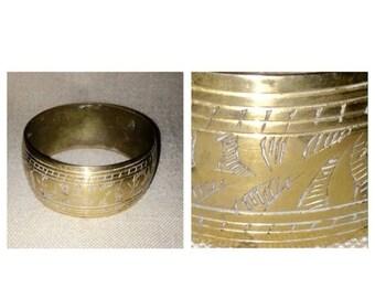 Anniversary Sale Vintage Brass Bangle Bracelet