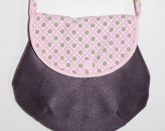 Plum and pink purse for girl