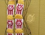 Crochet Movie Theater Popcorn Scarf