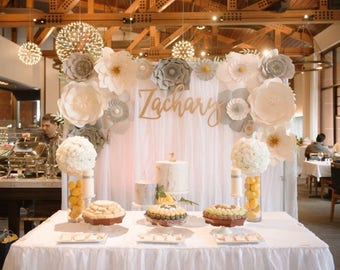 Large Paper Flower Backdrop ****Color Customize your Order*****