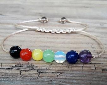 7 chakra bracelet yoga bracelet chakra jewelry healing stones gemstone bracelet mala meditation intent balance seven chakra bracelet