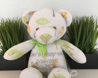 Keepsake Stuffed Bear made from your favorite old clothes or your baby's blanket