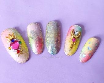 Sailor Moon Press On Nails