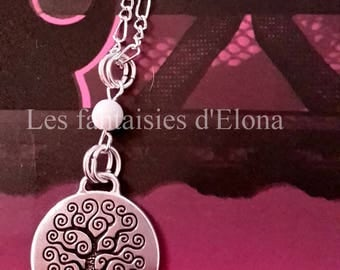 """Silver plated necklace with """"tree of life"""""""