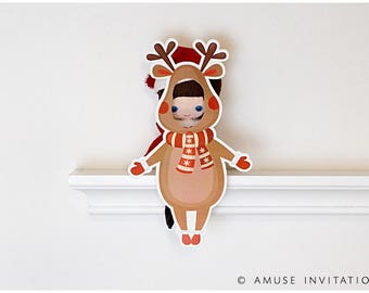 Elf Reindeer Disguise, Elf Reindeer Dressup, Christmas Elf Accessories, Santa's Elf Prop, Elf Printable, Christmas Elf Ideas, Easy Elf Ideas