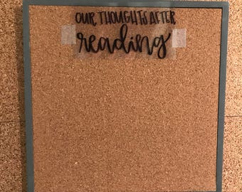 Custom Hand Lettered Cork Board