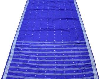 FREE SHIPPING - Vintage Indian Printed Sari Craft Fabric Home Decor Saree Curtain Drape 5YD Floral Designer Sari Recycled Fabric