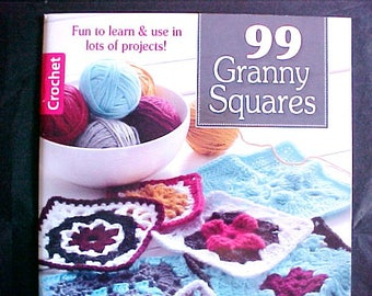 Leisure Arts 99 Granny Squares Crochet design pattern reference book