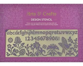 Arts And Crafts Design Brass Stencil, Letter Stencil, Flower Stencil, Planner Stencil, Journal Stencil, Scrapbooking Stencil, Craft Supplies