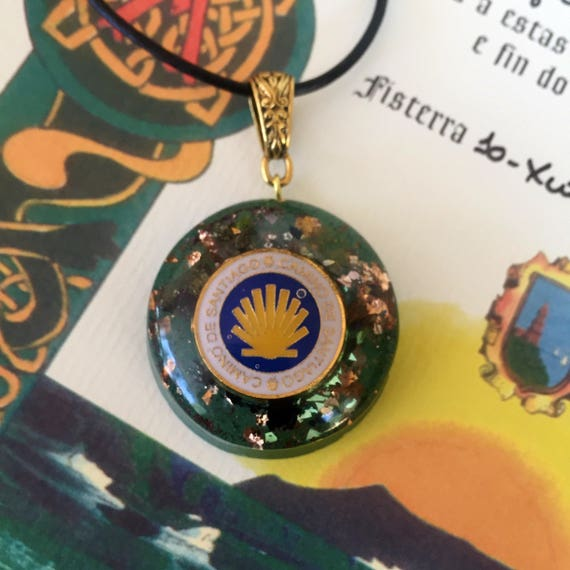 Camino De Santiago Orgonite® Pendant- Scallop Shell Necklace- Buen Camino Charm- St. James Way- French Way- Peregrino Pendant- Pilgrimage