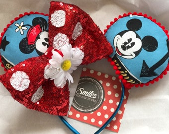 Disney Ears, Minnie Ears, Mickey Ears, Minnie Mouse, Mickey Mouse, Classic Mickey and Minnie