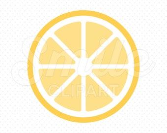 LEMON SLICE Clipart Illustration for Commercial Use | 0120