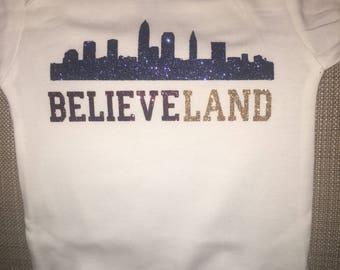 Believeland onesie