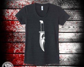 Ghost Knife - Women's Tee - Black
