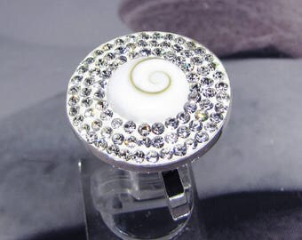 Silver eye of Saint Lucia and CZ ring