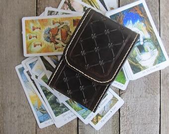 Tarot Deck Box Brown Tarot leather Tarot bag Tarot leather case Leather pouch Tarot Card holder Leather bag