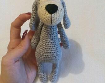 the dog,knitting,crochet,cotton,gray,gift,dog gift,handmade
