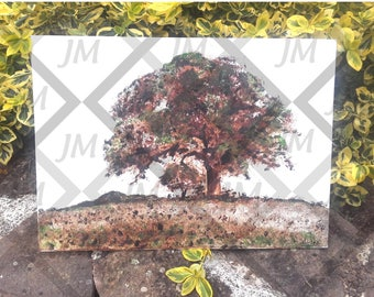 Acrylic painting on canvas tree from Africa