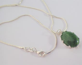 JADE on sterling silver